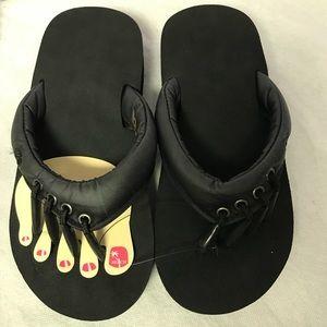 Yoga and pedicure sandals Black NEW